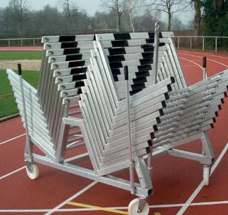 Hurdle Trolley for 20 Hurdles Order No. 10520 Made from special aluminium profiles. It provides place for up to 20 hurdles.