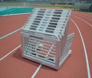 Hurdle Trolley for 10 Hurdles Hurdle Cart for 40 Hurdles Order No. 10510 Made from special aluminium profiles.