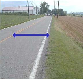 Remain consistent with all samples, unless there are painted parking lines.