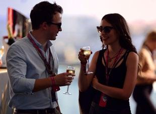 F1 calendar, the split-level penthouse terrace of the Champions Club at