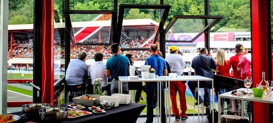 FORMULA 1 2018 BELGIAN GRAND PRIX Belgium CHAMPION Perfectly immersed in the heart of the Endurance Zone, the Champions Club provides 360 views from the Business Tower between La Source and Raidillon