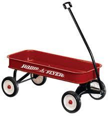 Example: Joe DiDonato is pulling his brother in a little red wagon.