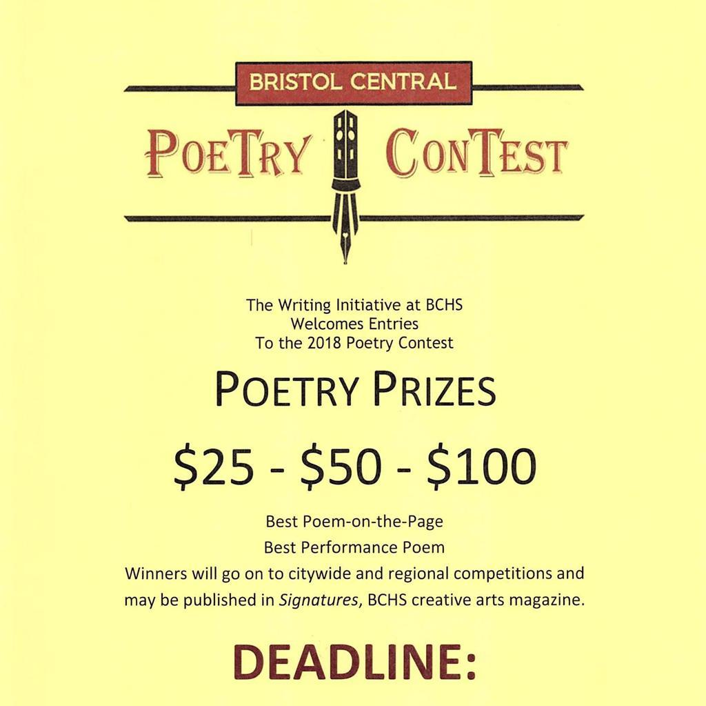ALL STUDENTS POETRY CONTEST Entry forms