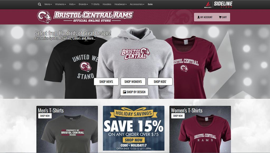 Be sure to visit BC Rams official online store a link is