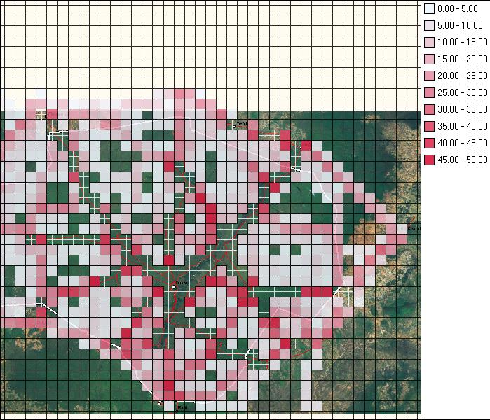 Figure 1: Patrol effort in kilometres, January 2010 January 2011.