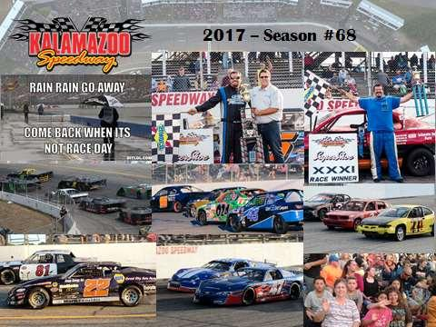 Clockwise: 3 races were totally rained out (May 19 & 26, August 4).