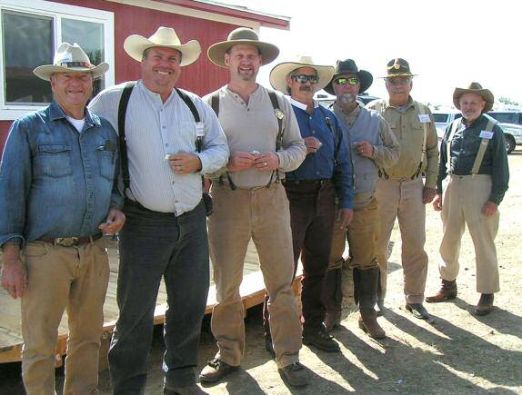 Page 34 Cowboy Chronicle September 2015 On The Range Return of the Buffalo to the Plains Annual Match By Pawnee Drifter, SASS #68380 2014 The seven happy Cowboys who made up the Clean Match
