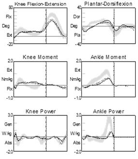 weight bearing over distal aspect of the foot and associated improved kinematics/kinetics at the ankle and knee and