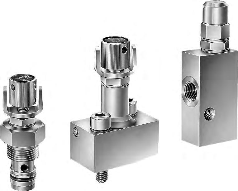 Pressure-limiting valve and pre-load valve type MVG, MVE and MVP Product documentation