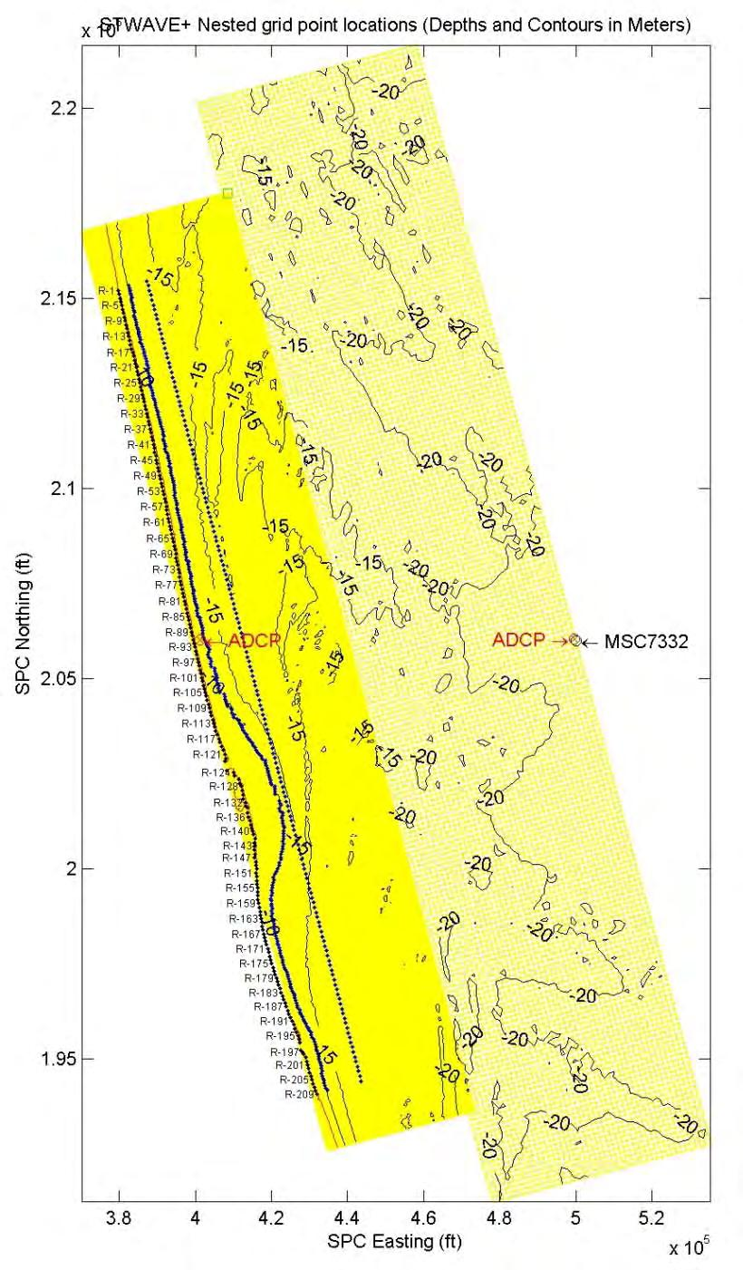 ERDC/CHL TR-12-14 15 Figure 13. Study area map from the Leadon et al. (2009) report on hindcast waves for St. Johns County.