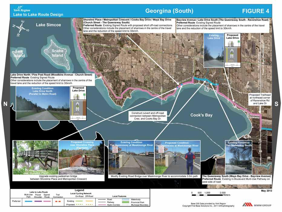 Lake to Lake Cycling Route Design -