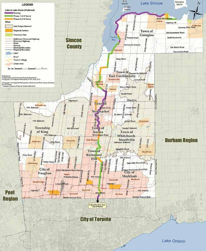 map two Lake to Lake Cycling Route and