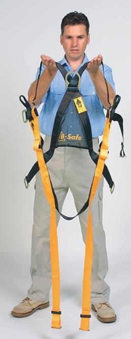 1 Fitting a Safety Harness 2 3 Dorsal Dee Before using the B-Safe harness, you should inspect the harness straps, metal
