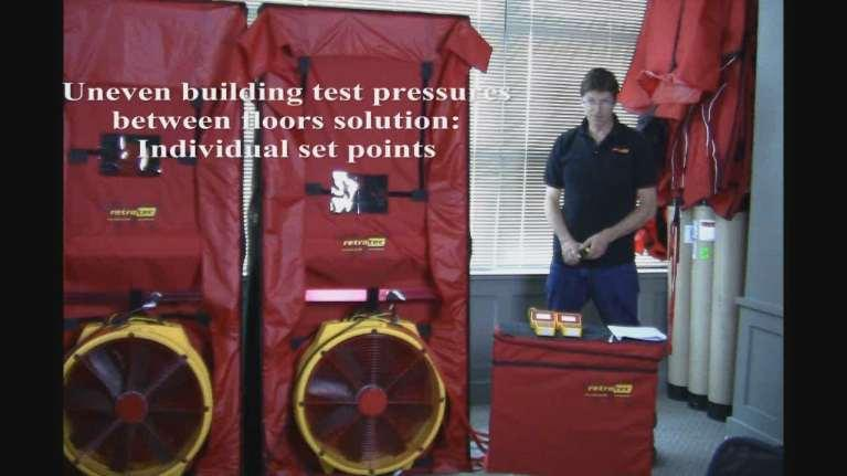 Exercise 4 Uneven building test pressures between floors Solution: