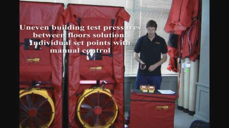 Exercise 5 Uneven building test pressures between floors Solution: