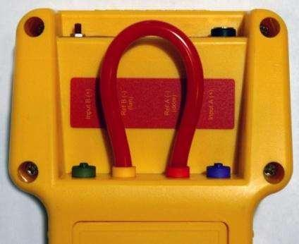Connect the red and yellow ports.