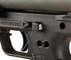 C. OPERATING INSTRUCTIONS Safety The KSG features a cross-bolt safety located behind the trigger on the grip assembly.