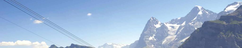 Cable car to Mürren Village About Murren & Jungfrauregion Location and accessibility Murren is above the Lauterbrunnen valley at 1,650 m.a.s.l. Located on a sunny terrace the village enjoys the beautiful mountain backdrop of the Eiger, Mönch and Jungfrau.