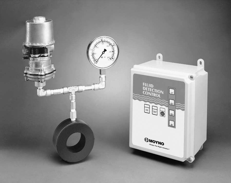 MOYNO Section: ACCESSORIES Page: 1 of 8 Date: May 1, 1998 SERVICE MANUAL FLUID DETECTION CONTROL GENERAL The Moyno Fluid Detection Control prevents unnecessary loss of production time or repair costs