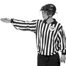 Referee s Signals 25 PENALTY SHOT Arms crossed above the head. Give the signal upon stoppage of play.