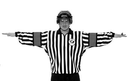Referee s Signals 27 UNSPORTSMANLIKE CONDUCT Using both hands to form a T in front of