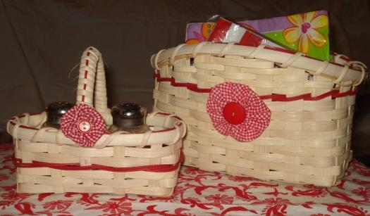 Saturday Morning 8:30 12:30 Circles for Your Table Set Montina Aldridge $30 First weave a 5 x 2 Salt and Pepper Basket