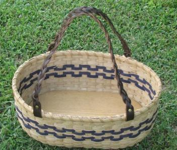 and plain reeds. This basket has a traditional ear wrap. Basket will be pre-started for you.