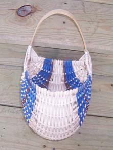 Saturday Afternoon 1:30 5:30 Oval Ribbed Key Basket Jane Bradsher $30 Made with none 8 x 12 oval hoop with one rim in front and