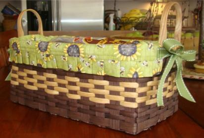 Several colors to pick from. Penny Loafer Penny Burchfield $30 Weaving to fit a loaf of bread, this basket 12 x 5 x 5.