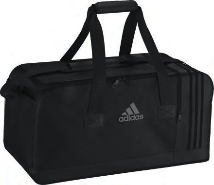 weave Printed Performance logo Printed 3 stripes Padded and adjustable shoulder strap Padded handles Shoe compartment with