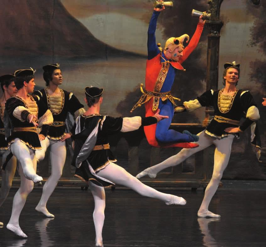 He dances the Jester in Swan Lake on this 2015 tour and also appears in Giselle and Don Quixote.
