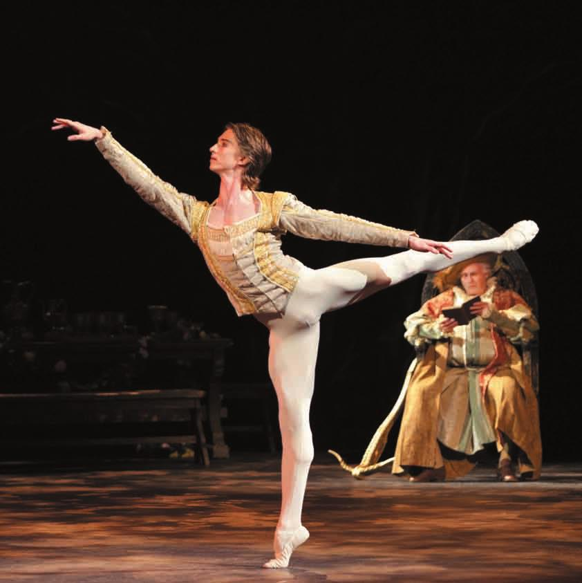 His roles with the Company include Basilio (Don Quixote), Prince Siegfried (Swan Lake), Prince Florimund (The Sleeping Beauty), Colas (La Fille mal gardée), Lensky (Onegin), Des Grieux (Manon),
