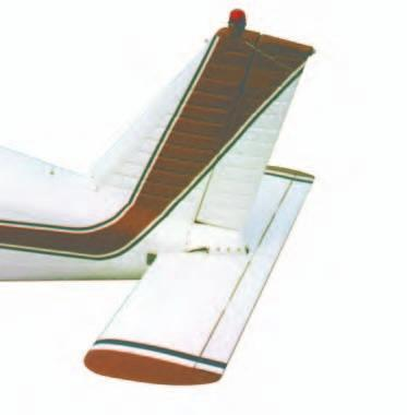 ADJUSTABLE STABILIZER Rather than using a movable tab on the trailing edge of the elevator, some airplanes have an adjustable stabilizer.