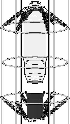 Maneuver top of cage to unzipped opening and pass the cage through until fully exposed. Unhook the lamp holder springs (Fig. 2 only select Sirocco models) Remove lamp(s) from unit.