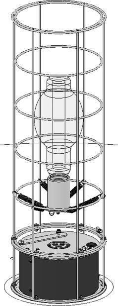 ) Using the wrench, loosen and remove the two nuts on the underside of the top brace and remove the top brace from the cage, allowing you to access the lamp. (Fig. 3) a. b. Fig.