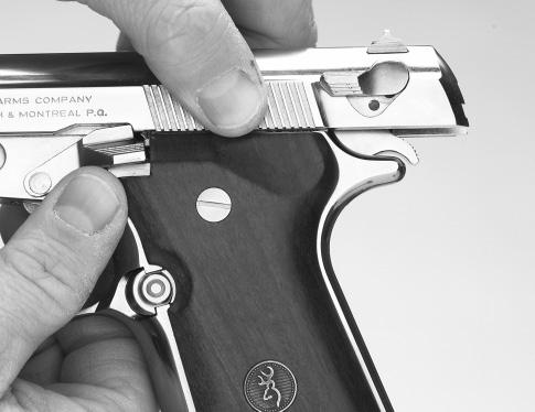 WEAR EYE PROTECTION AT ALL TIMES WHEN PERFORMING MAINTENANCE ON YOUR PISTOL. It is important that you become adept at disassembling (field stripping) your BDA 380 pistol.