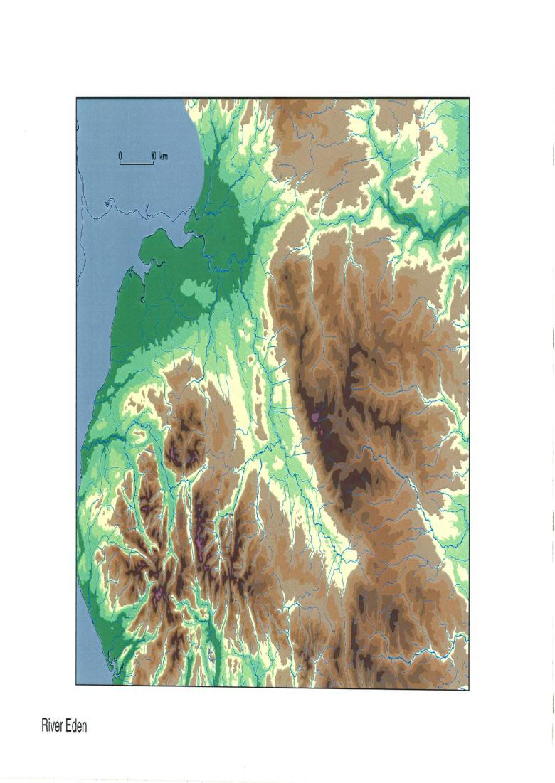 Example 1:250,000 catchment map (for the River Eden) showing detail