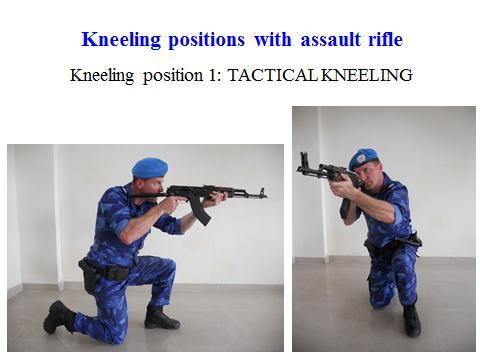 29 Slide 8 From a tactical perspective, the kneeling position reduces the officer s exposure to the suspect by reducing the size of the target. It is best when used in conjunction with cover.