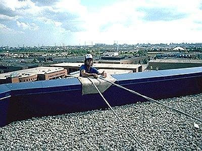 ROOFING FALL PROTECTION DEFINITIONS LOW SLOPE ROOF PITCH ROOF LEADING EDGE WARNING LINE LOW