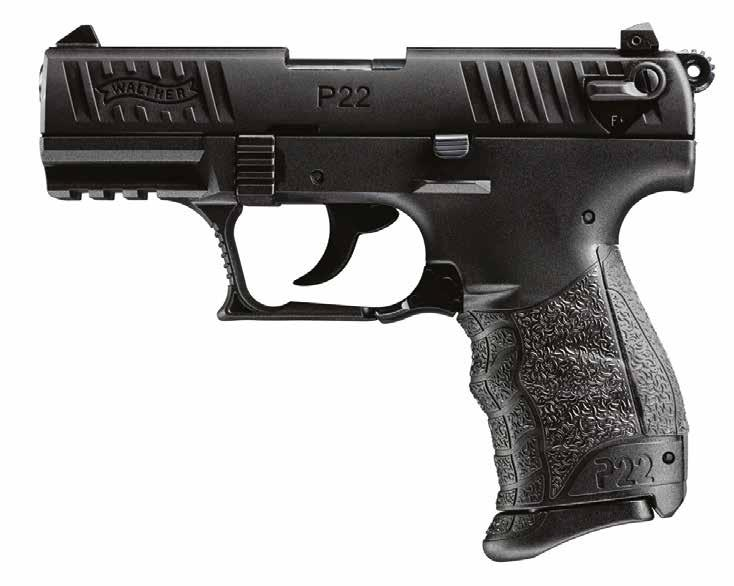 P22 QD FUN. VERY FUN. The WALTHER P22 is a fun handgun perfect for recreational shooting. 1 7 2 8 9 3 4 5 6 1 Low profile three dot polymer combat sights. Rapid aiming and target acquisition.