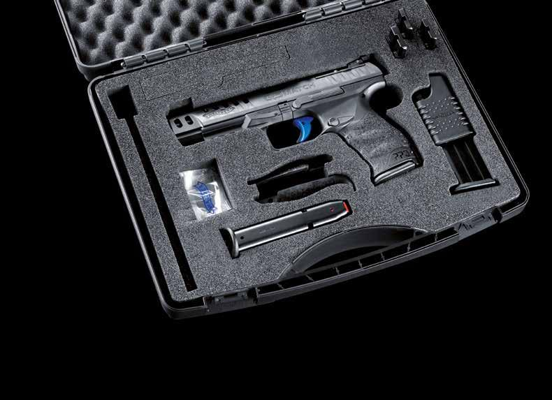 Q5 Match The Q5 Match is supplied with three interchangeable adapter plates for red-dot sights from Trijicon, Leupold and Docter/Meopta.