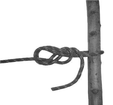 (14) REROUTED FIGURE OF EIGHT. (a) Purpose: To tie the climbing rope around a fixed object or into a harness. Grasp the top of a 2-foot bight.
