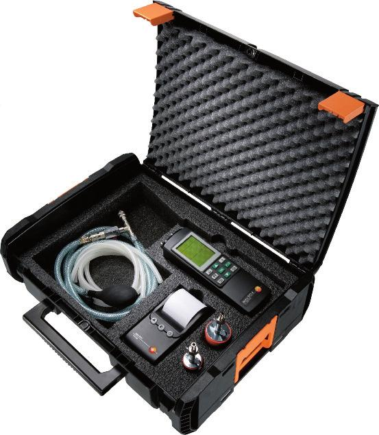 testo 312-4 Technical data testo 312-4 Sensor types Pressure (internal sensor in the testo 312-4) Pressure (via high-pressure probe) Temperature (via external temperature probe Type K) Meas.