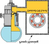 Special notes on operation Overfilling of the D frame bearing housing (or other frame) may occur due to repeated removal and replacement of the reservoir.