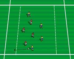 End Line Game Setup Divide players into two teams. Sequence Teams play 4v4 inside the playing area attempting to dribble and control the ball over the opponent s end line.