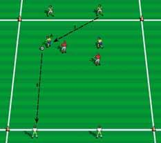 GK-3-2-2 GK-2-4-1 Teaching possibilities: GK-4-3-3 Training two center backs to pressure and cover and work with defensive midfield player. Training changing the point of attack.