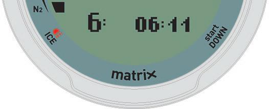 If Matrix detects that the battery power level is getting below 10%, it will show the message LOW BATTERY on the display.