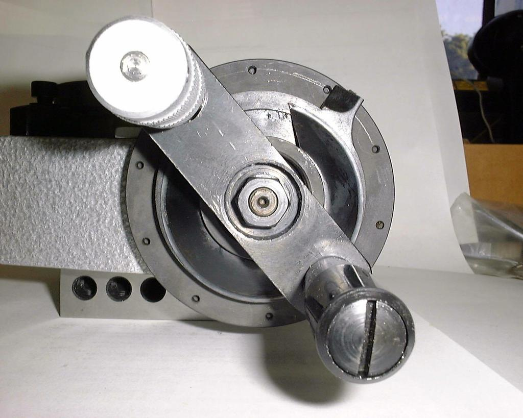 The position of the crank handle when you start is not important as long as the indexing pin is in a hole.