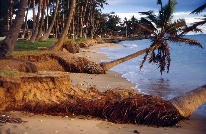 Seawalls here Lead to erosion here Erosion is caused by: W. Maui 1.