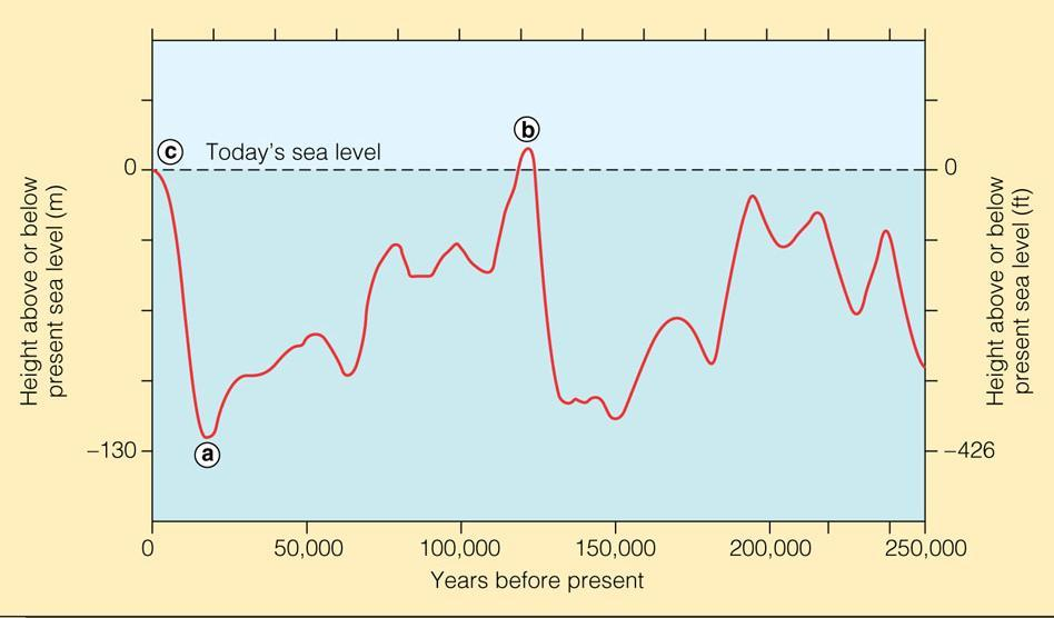 Global sea level rose 17 ± 5 cm in the 20 th century, due to ocean warming and melting of glacial